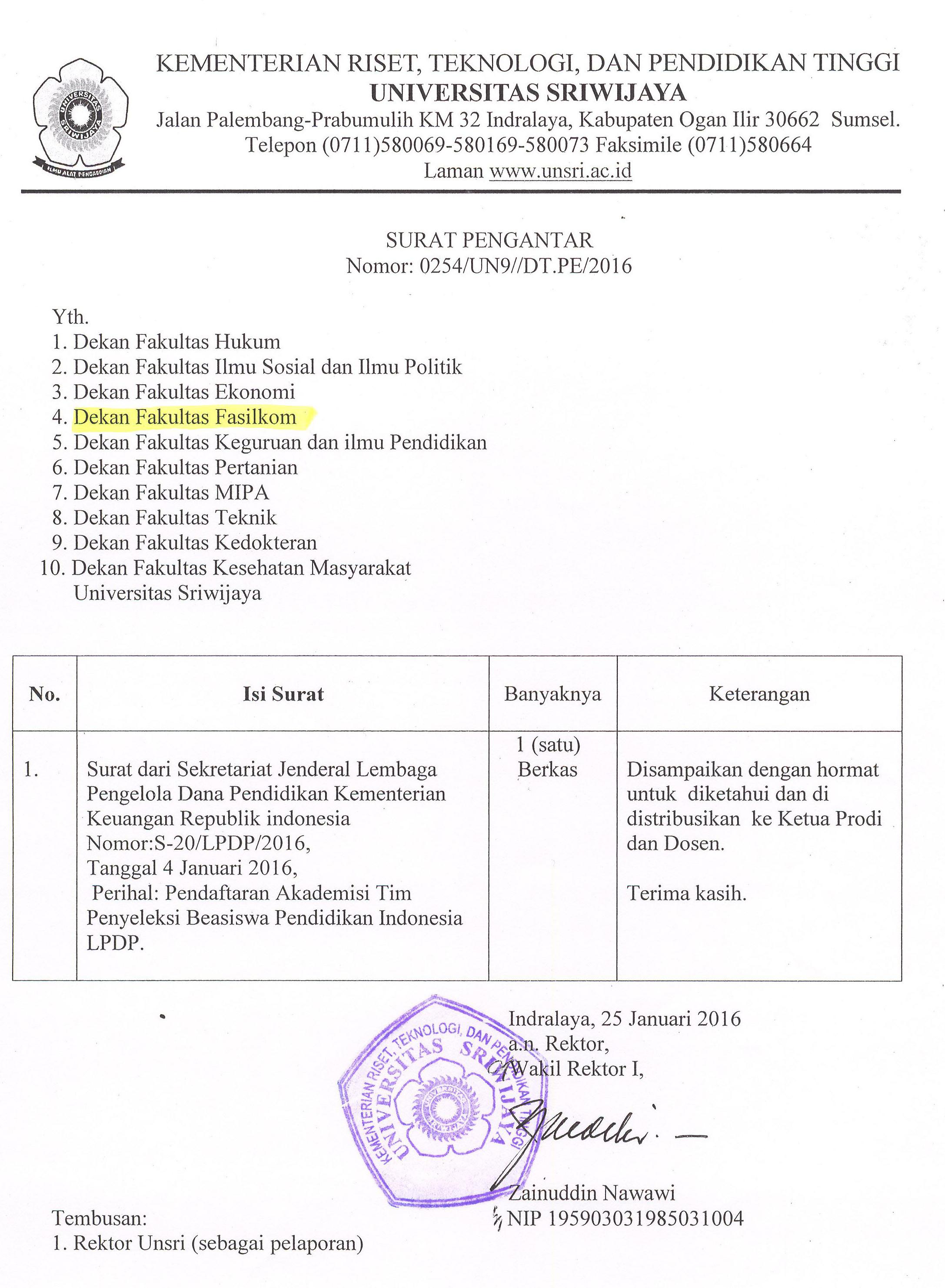 Pendaftaran Akademisi Tim Penyeleksi Beasiswa Pendidikan Indonesia LPDP